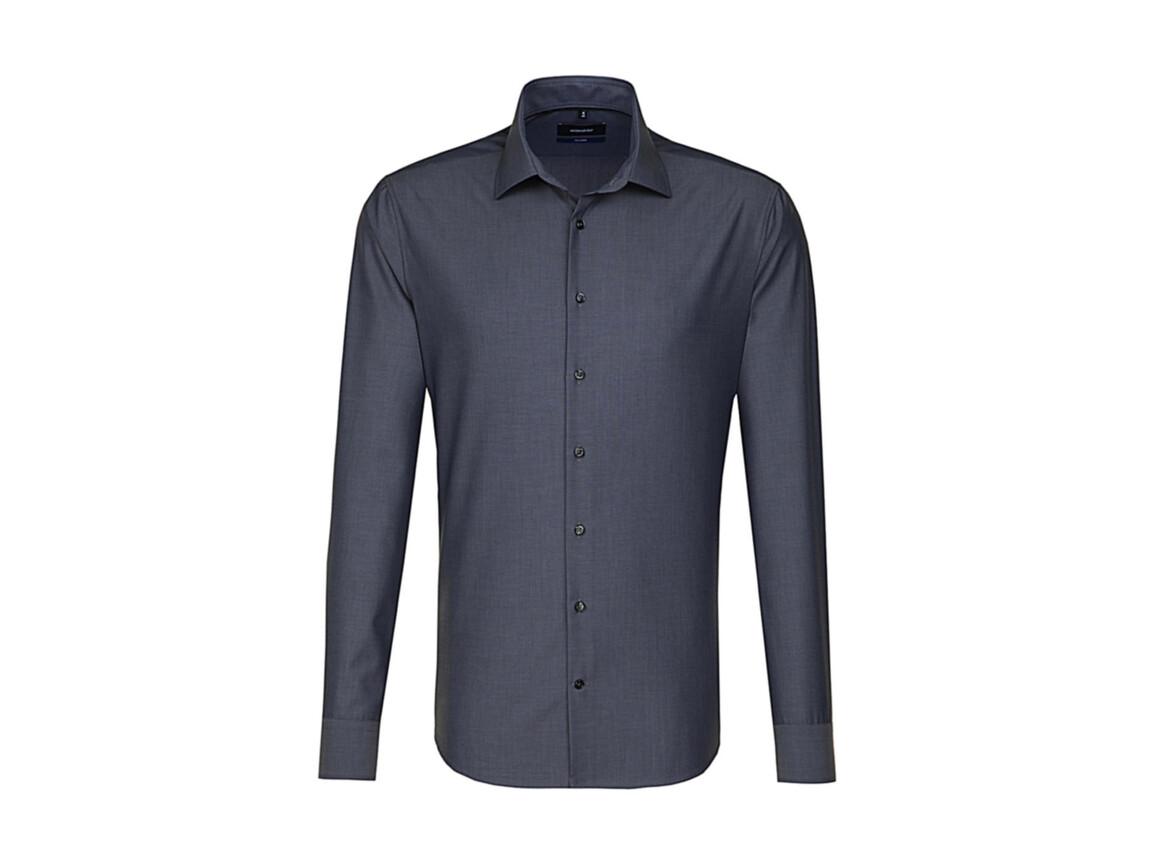 Seidensticker Seidensticker Tailored Fit Shirt LS, Anthracite, 38 bedrucken, Art.-Nr. 758201401