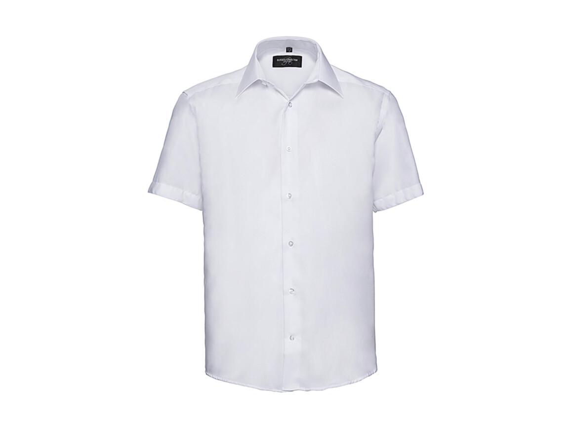 "Russell Europe Men`s Tailored Ultimate Non-Iron Shirt, White, 2XL/18"" bedrucken, Art.-Nr. 759000005"
