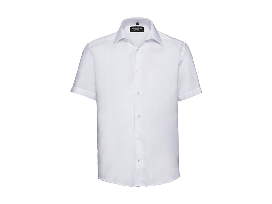 "Russell Europe Men`s Tailored Ultimate Non-Iron Shirt, White, XL/17.5"" bedrucken, Art.-Nr. 759000004"
