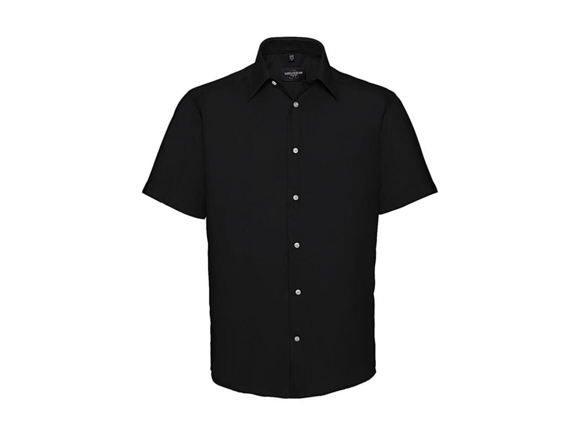 """Russell Europe Men`s Tailored Ultimate Non-Iron Shirt, Black, XL/17.5"""" bedrucken, Art.-Nr. 759001014"""