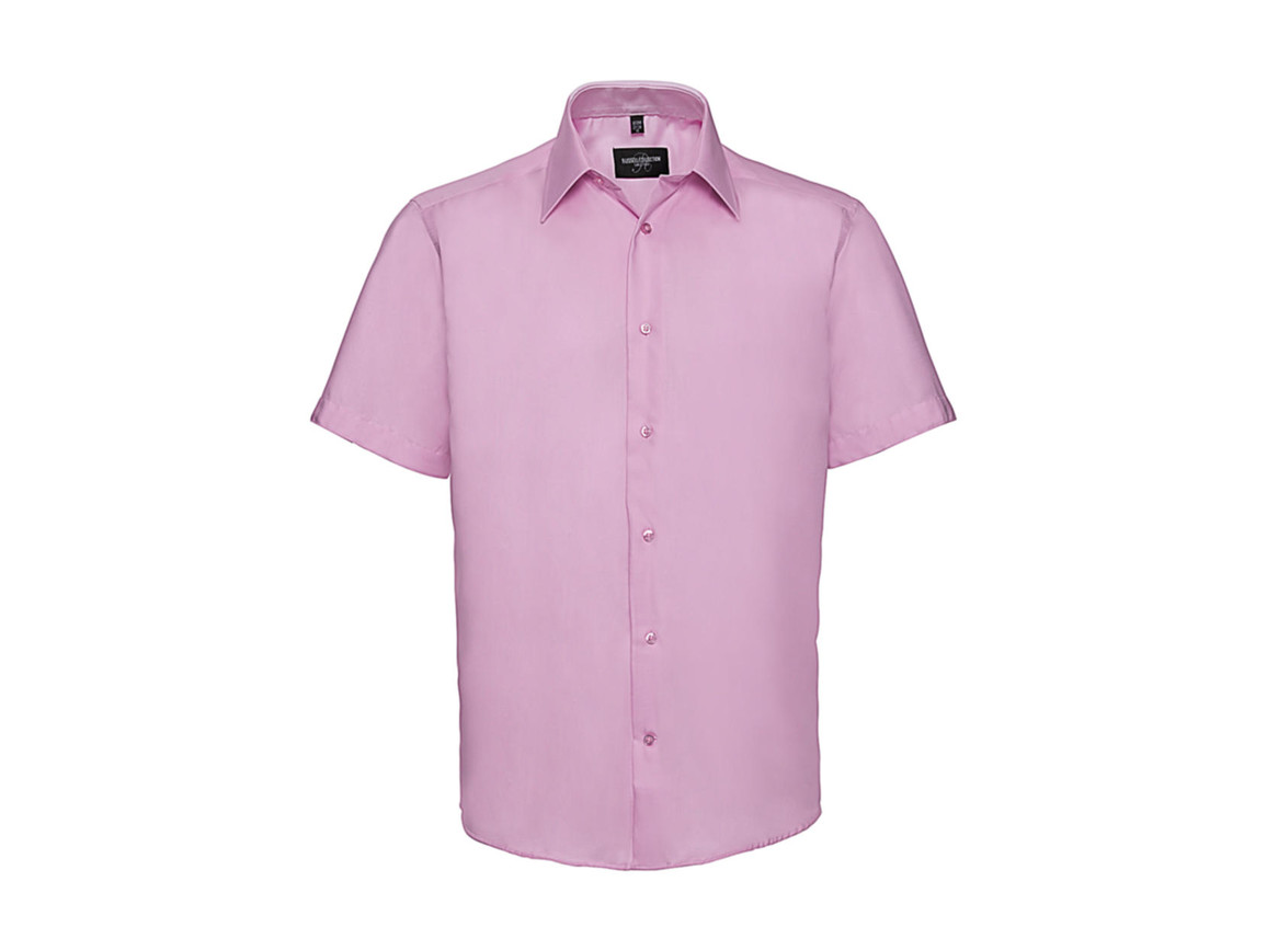 "Russell Europe Men`s Tailored Ultimate Non-Iron Shirt, Classic Pink, L/16.5"" bedrucken, Art.-Nr. 759004203"