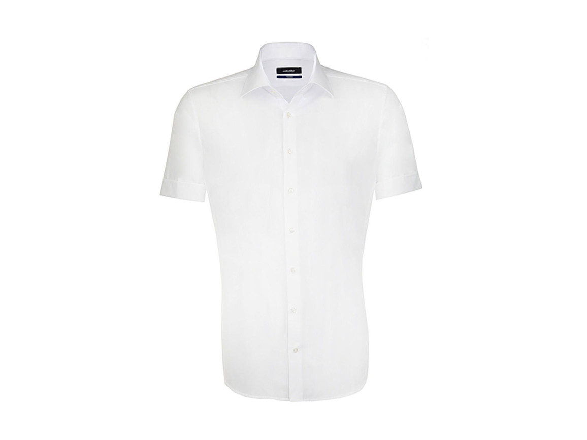 Seidensticker Seidensticker Tailored Fit Shirt, White, 38 bedrucken, Art.-Nr. 759200001