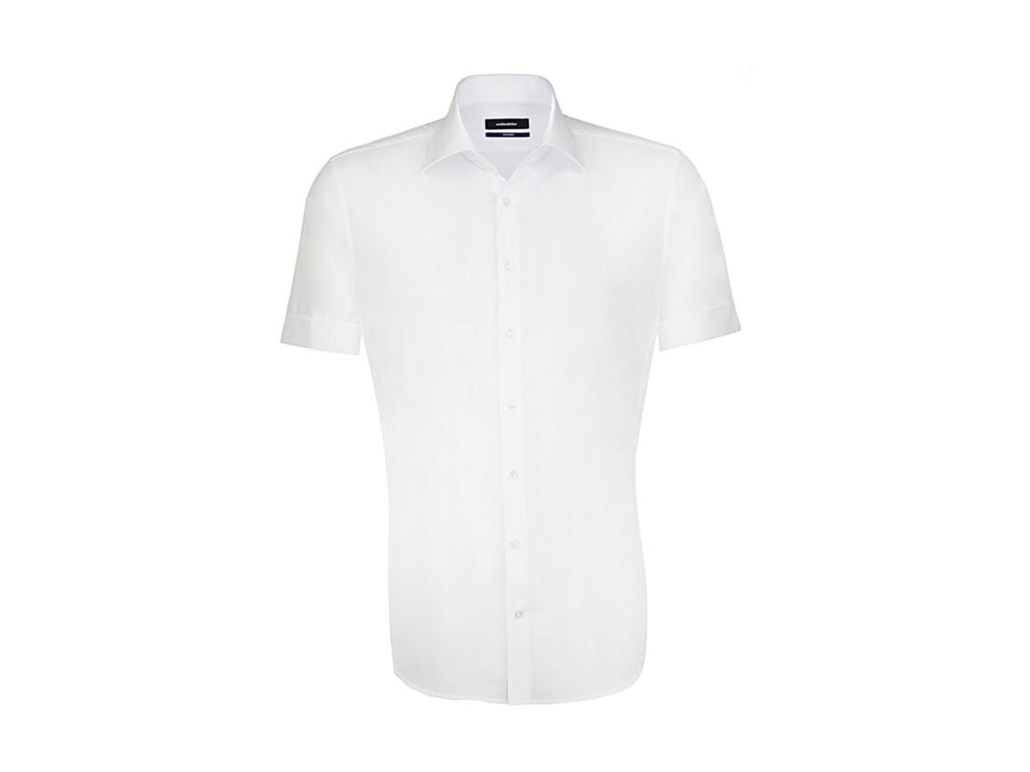 Seidensticker Seidensticker Tailored Fit Shirt, White, 45 bedrucken, Art.-Nr. 759200008