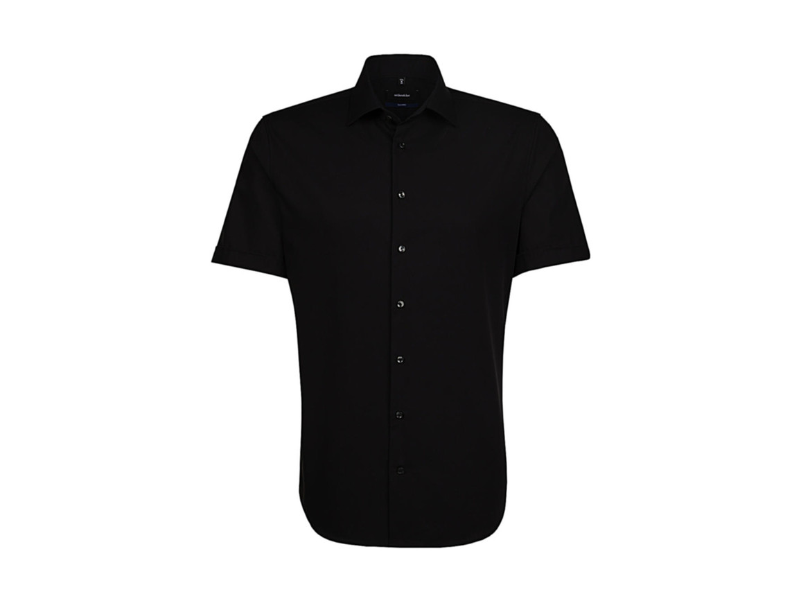 Seidensticker Seidensticker Tailored Fit Shirt, Black, 38 bedrucken, Art.-Nr. 759201011