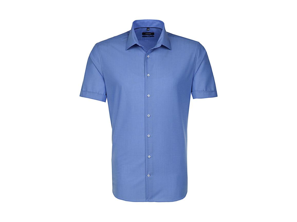 Seidensticker Seidensticker Tailored Fit Shirt, Mid Blue, 37 bedrucken, Art.-Nr. 759203150
