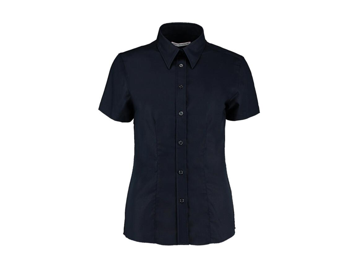 Kustom Kit Women`s Tailored Fit Workwear Oxford Shirt SSL, French Navy, XS (8) bedrucken, Art.-Nr. 760112011
