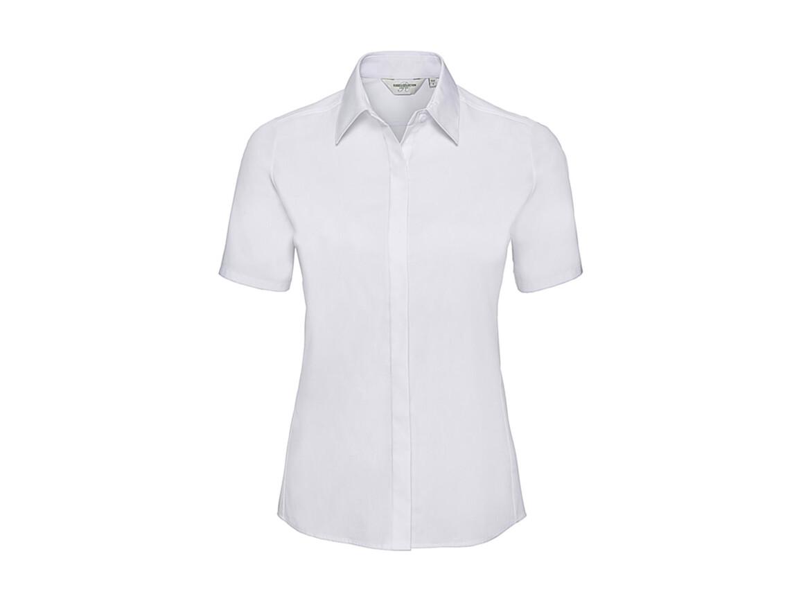 Russell Europe Ladies` Ultimate Stretch Shirt, White, XL (42) bedrucken, Art.-Nr. 761000006