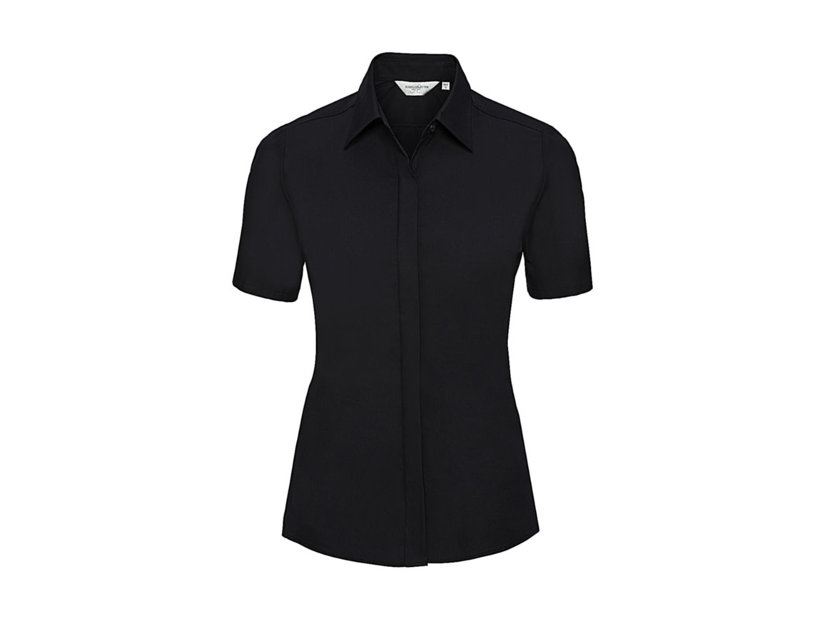 Russell Europe Ladies` Ultimate Stretch Shirt, Black, M (38) bedrucken, Art.-Nr. 761001014
