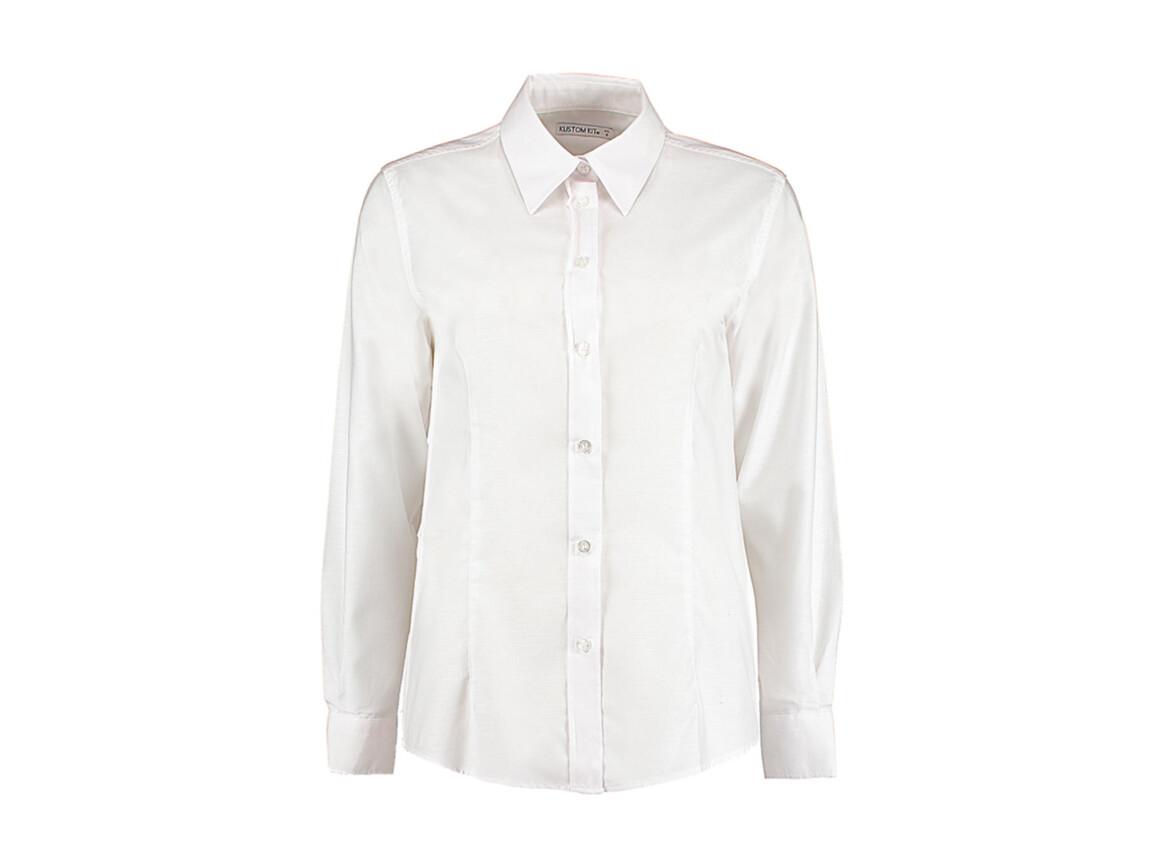 Kustom Kit Women`s Tailored Fit Workwear Oxford Shirt, White, XS (8) bedrucken, Art.-Nr. 761110001