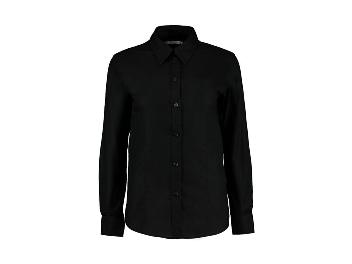 Kustom Kit Women`s Tailored Fit Workwear Oxford Shirt, Black, XL (16) bedrucken, Art.-Nr. 761111015