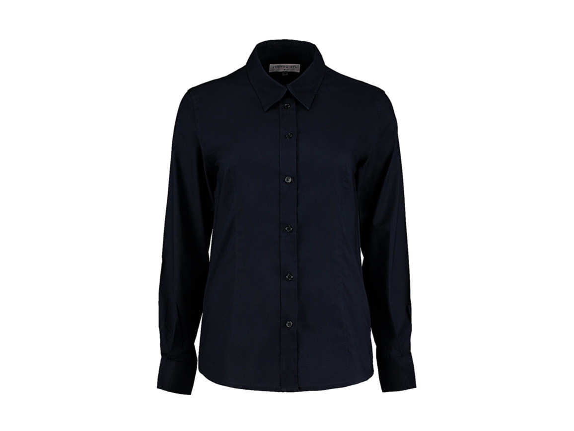 Kustom Kit Women`s Tailored Fit Workwear Oxford Shirt, French Navy, 3XL (20) bedrucken, Art.-Nr. 761112017