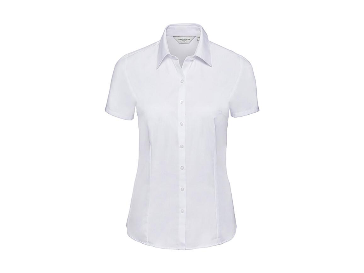 Russell Europe Ladies` Herringbone Shirt, White, L (40) bedrucken, Art.-Nr. 763000005