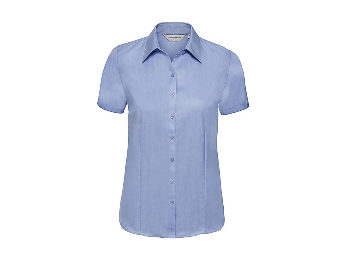 Russell Europe Ladies` Herringbone Shirt, Light Blue, M (38) bedrucken, Art.-Nr. 763003214