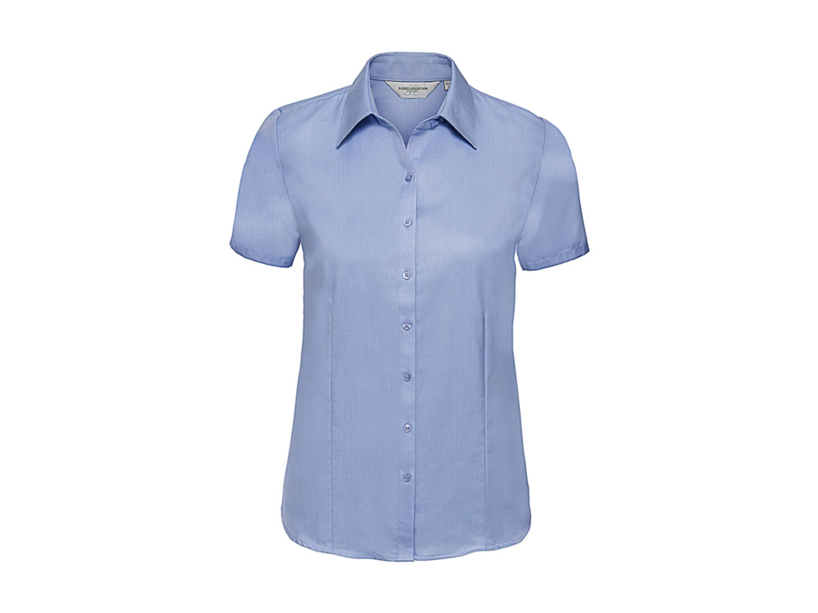 Russell Europe Ladies` Herringbone Shirt, Light Blue, XL (42) bedrucken, Art.-Nr. 763003216