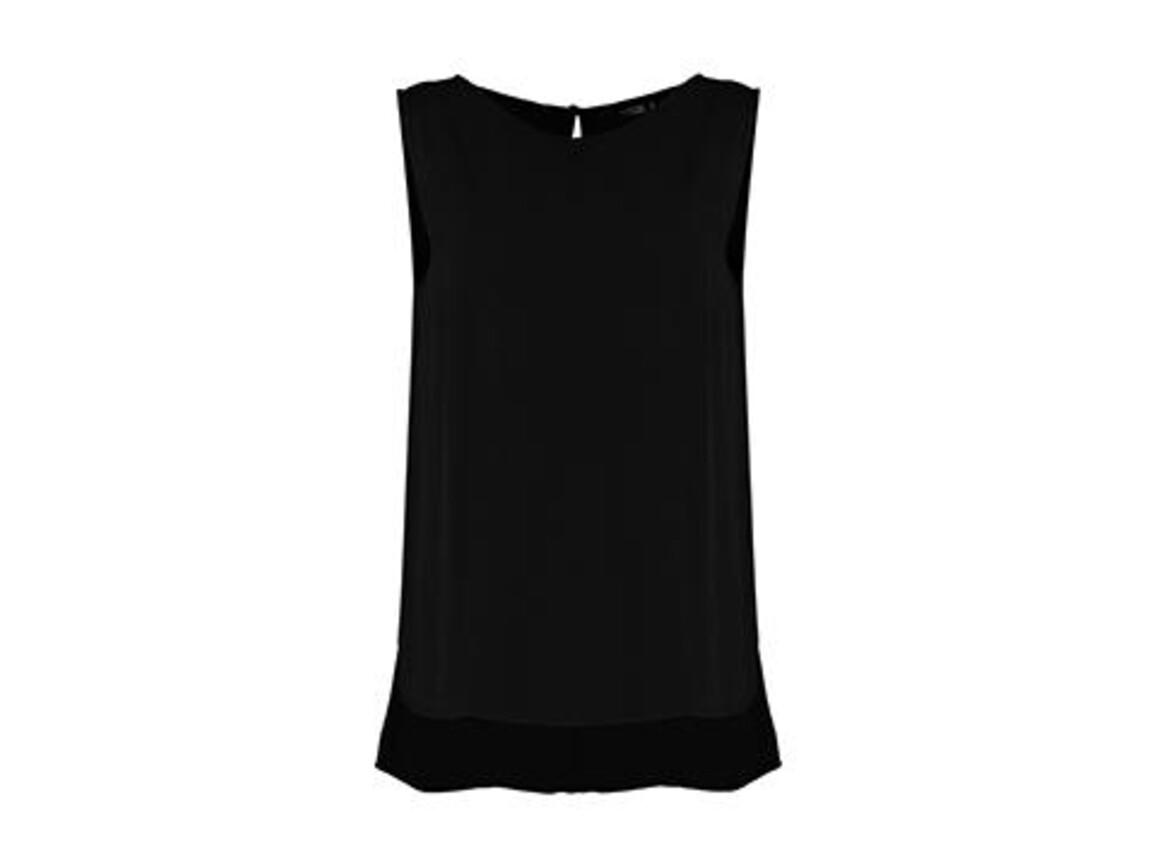 Kustom Kit Regular Fit Drape Vest, Black, M bedrucken, Art.-Nr. 765111014