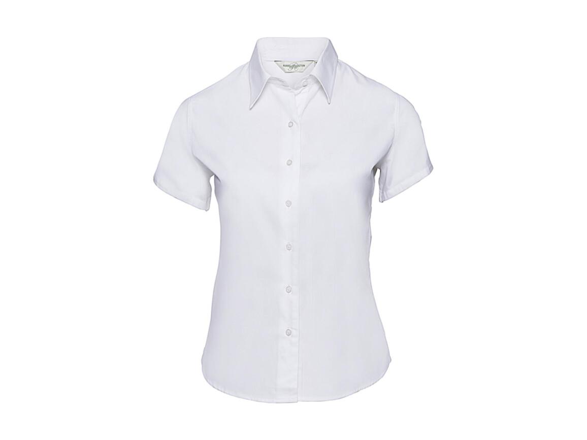 Russell Europe Ladies` Classic Twill Shirt, White, S (36) bedrucken, Art.-Nr. 767000003