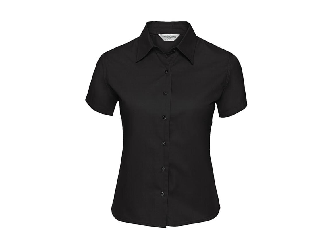 Russell Europe Ladies` Classic Twill Shirt, Black, XL (42) bedrucken, Art.-Nr. 767001016