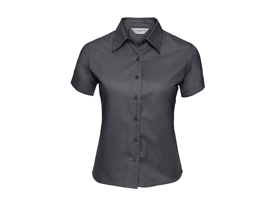 Russell Europe Ladies` Classic Twill Shirt, Zinc, S (36) bedrucken, Art.-Nr. 767001123