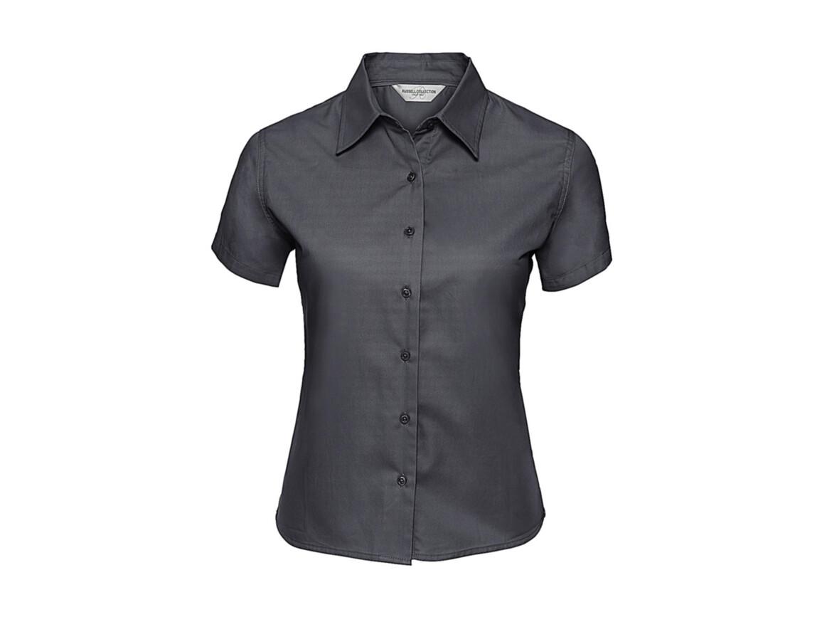 Russell Europe Ladies` Classic Twill Shirt, Zinc, XS (34) bedrucken, Art.-Nr. 767001122