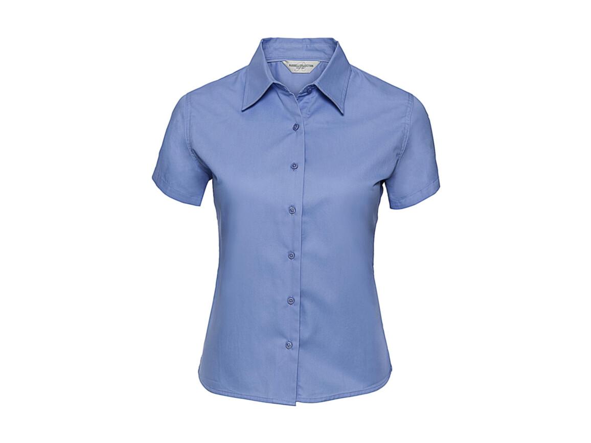 Russell Europe Ladies` Classic Twill Shirt, Blue, XL (42) bedrucken, Art.-Nr. 767003016