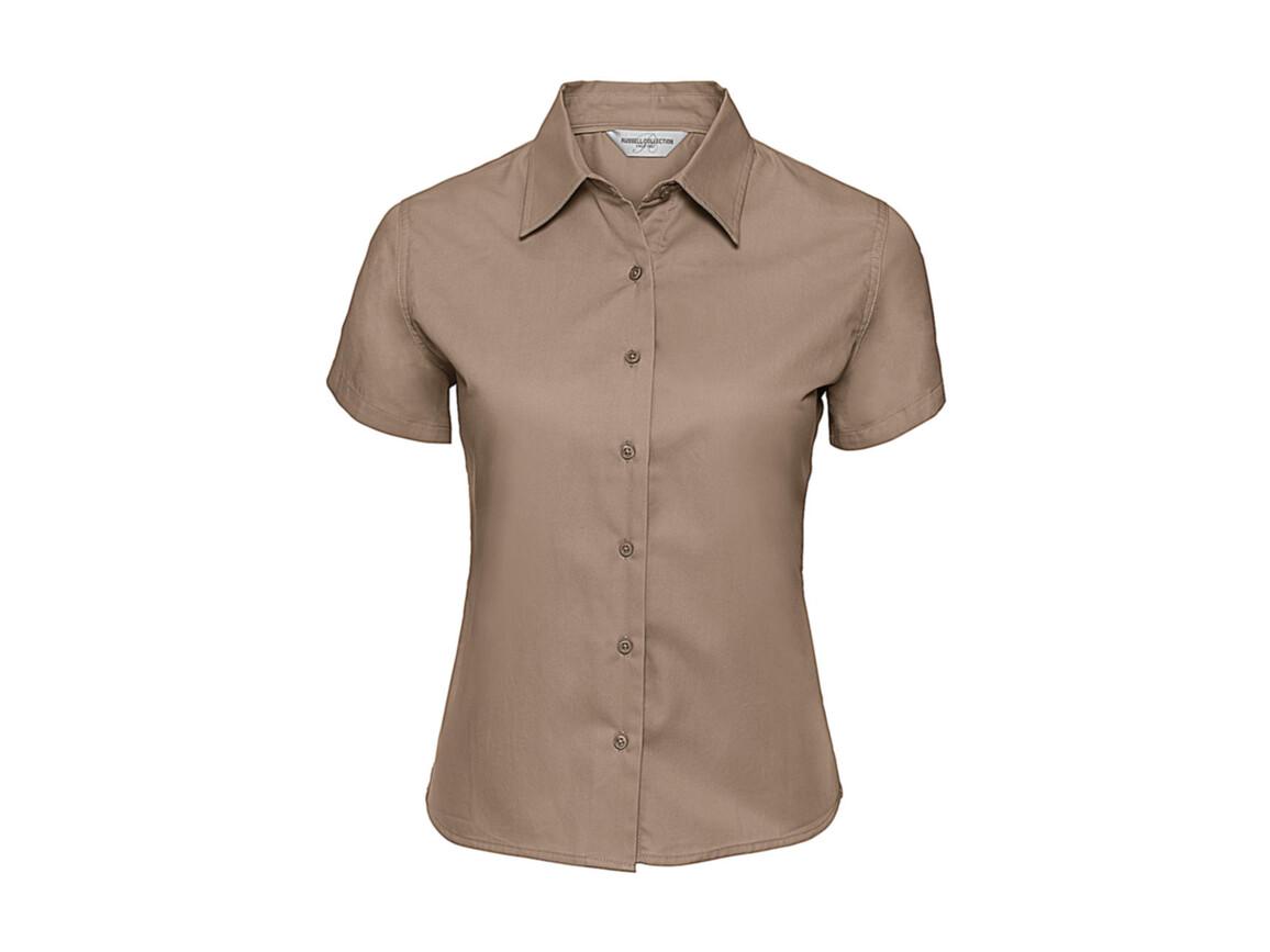 Russell Europe Ladies` Classic Twill Shirt, Khaki, L (40) bedrucken, Art.-Nr. 767007315
