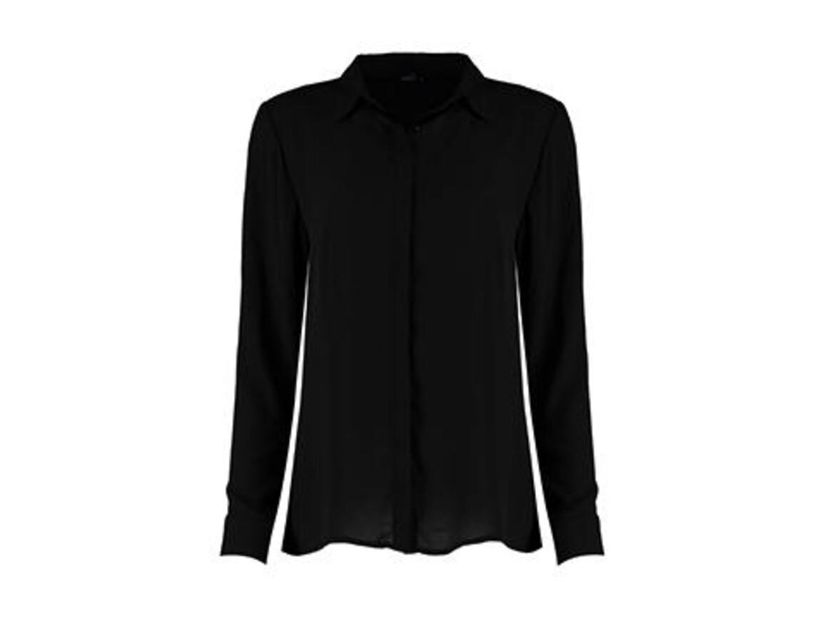 Kustom Kit Regular Fit Soft Shirt, Black, M bedrucken, Art.-Nr. 769111014