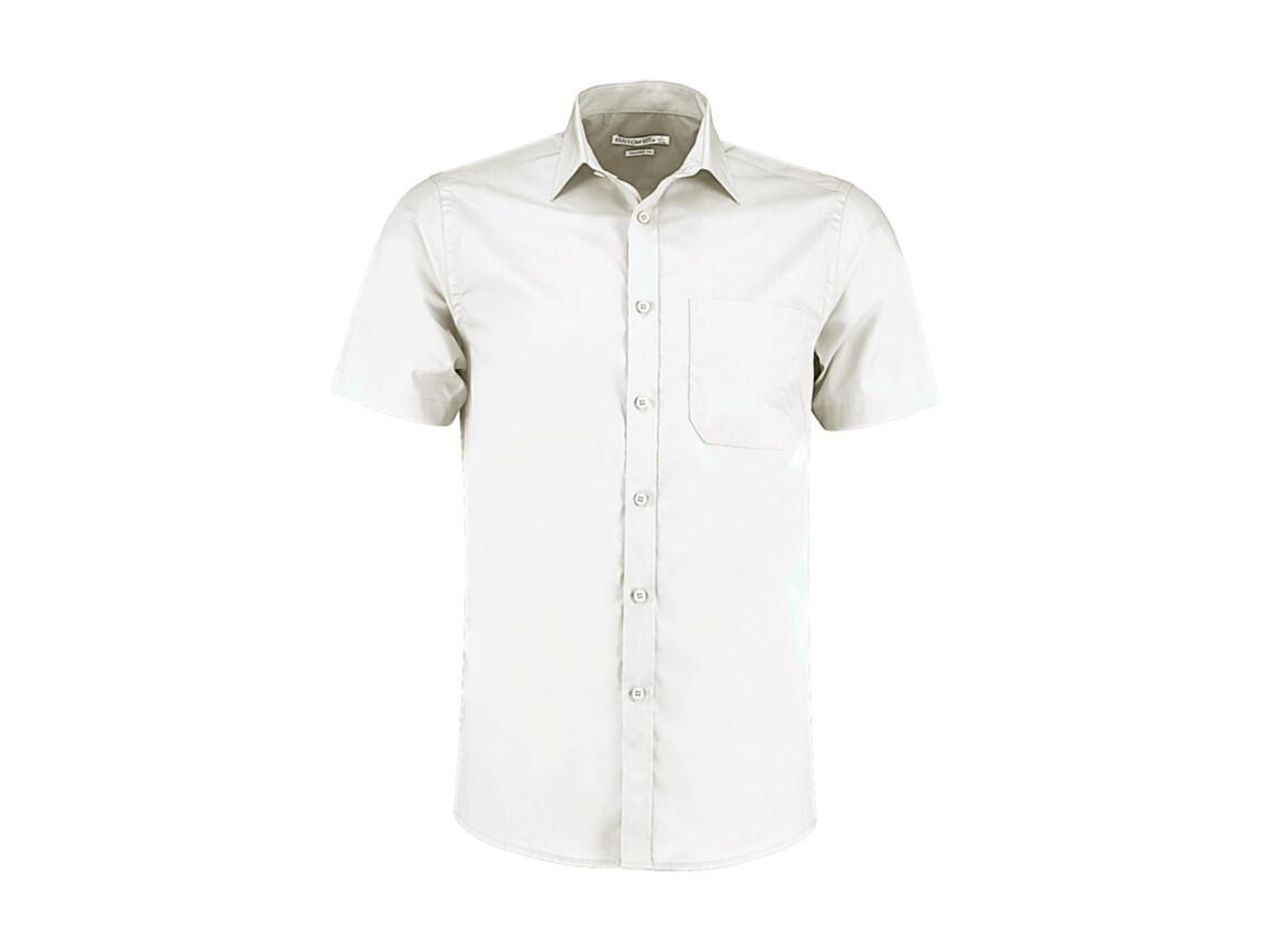 Kustom Kit Tailored Fit Poplin Shirt SSL, White, 2XL bedrucken, Art.-Nr. 770110007