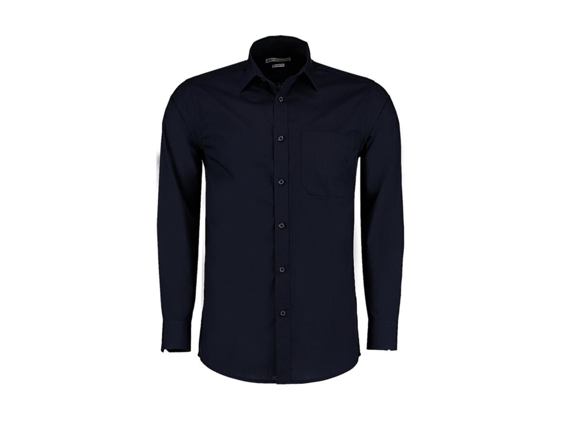 Kustom Kit Tailored Fit Poplin Shirt, Dark Navy, L bedrucken, Art.-Nr. 771112045