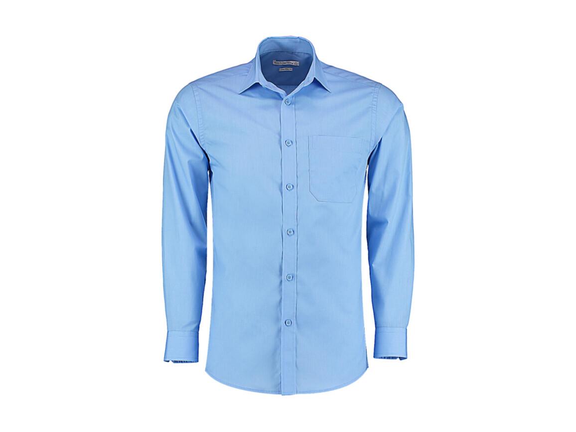 Kustom Kit Tailored Fit Poplin Shirt, Light Blue, L bedrucken, Art.-Nr. 771113215