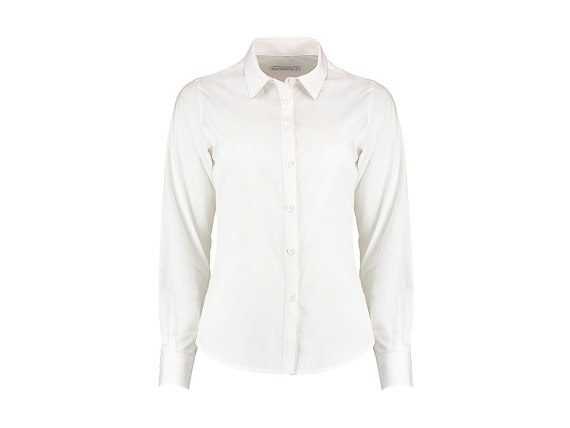 Kustom Kit Women`s Tailored Fit Poplin Shirt, White, 3XL bedrucken, Art.-Nr. 773110008