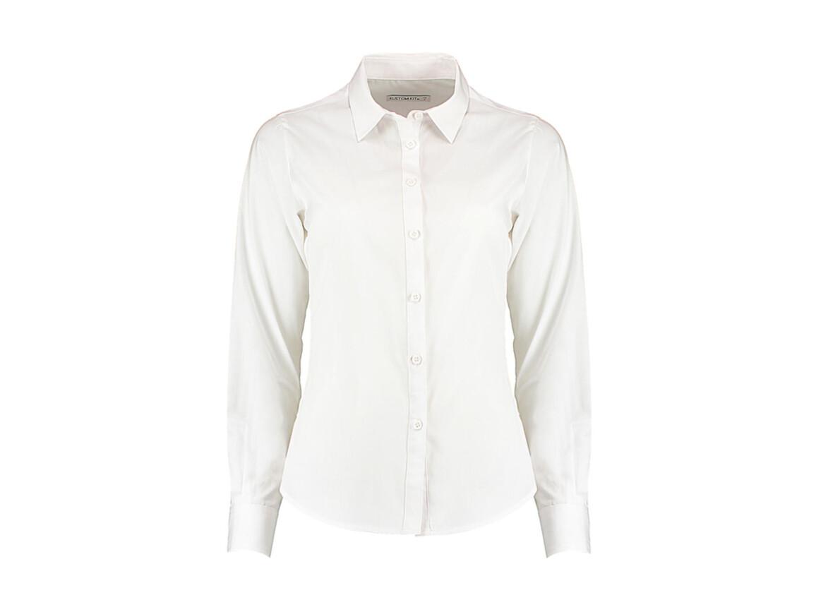 Kustom Kit Women`s Tailored Fit Poplin Shirt, White, XL bedrucken, Art.-Nr. 773110006