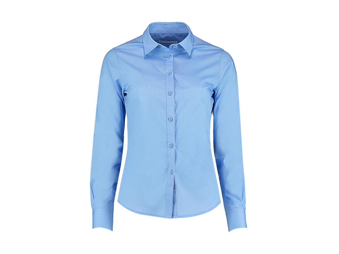 Kustom Kit Women`s Tailored Fit Poplin Shirt, Light Blue, XS bedrucken, Art.-Nr. 773113212