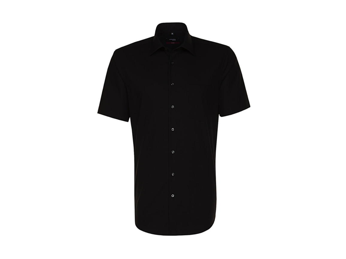 Seidensticker Seidensticker Modern Fit Shirt, Black, 43 bedrucken, Art.-Nr. 775201015