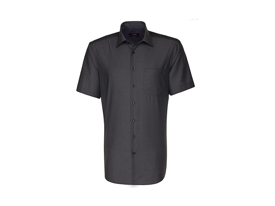 Seidensticker Seidensticker Modern Fit Shirt, Anthracite, 40 bedrucken, Art.-Nr. 775201402