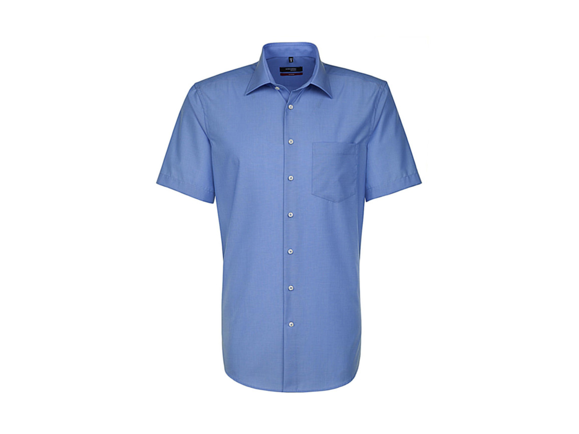 Seidensticker Seidensticker Modern Fit Shirt, Mid Blue, 41 bedrucken, Art.-Nr. 775203153