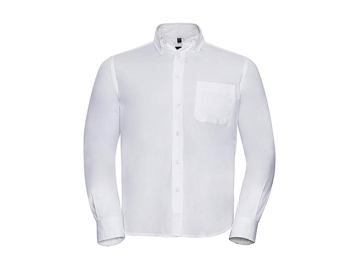 Russell Europe Long Sleeve Classic Twill Shirt, White, M bedrucken, Art.-Nr. 776000002
