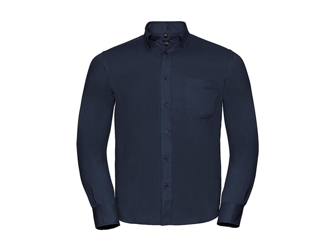 Russell Europe Long Sleeve Classic Twill Shirt, French Navy, M bedrucken, Art.-Nr. 776002012
