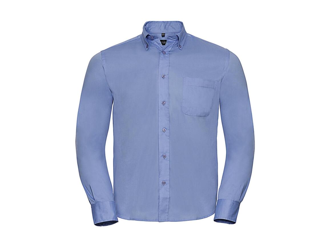 Russell Europe Long Sleeve Classic Twill Shirt, Blue, 3XL bedrucken, Art.-Nr. 776003016