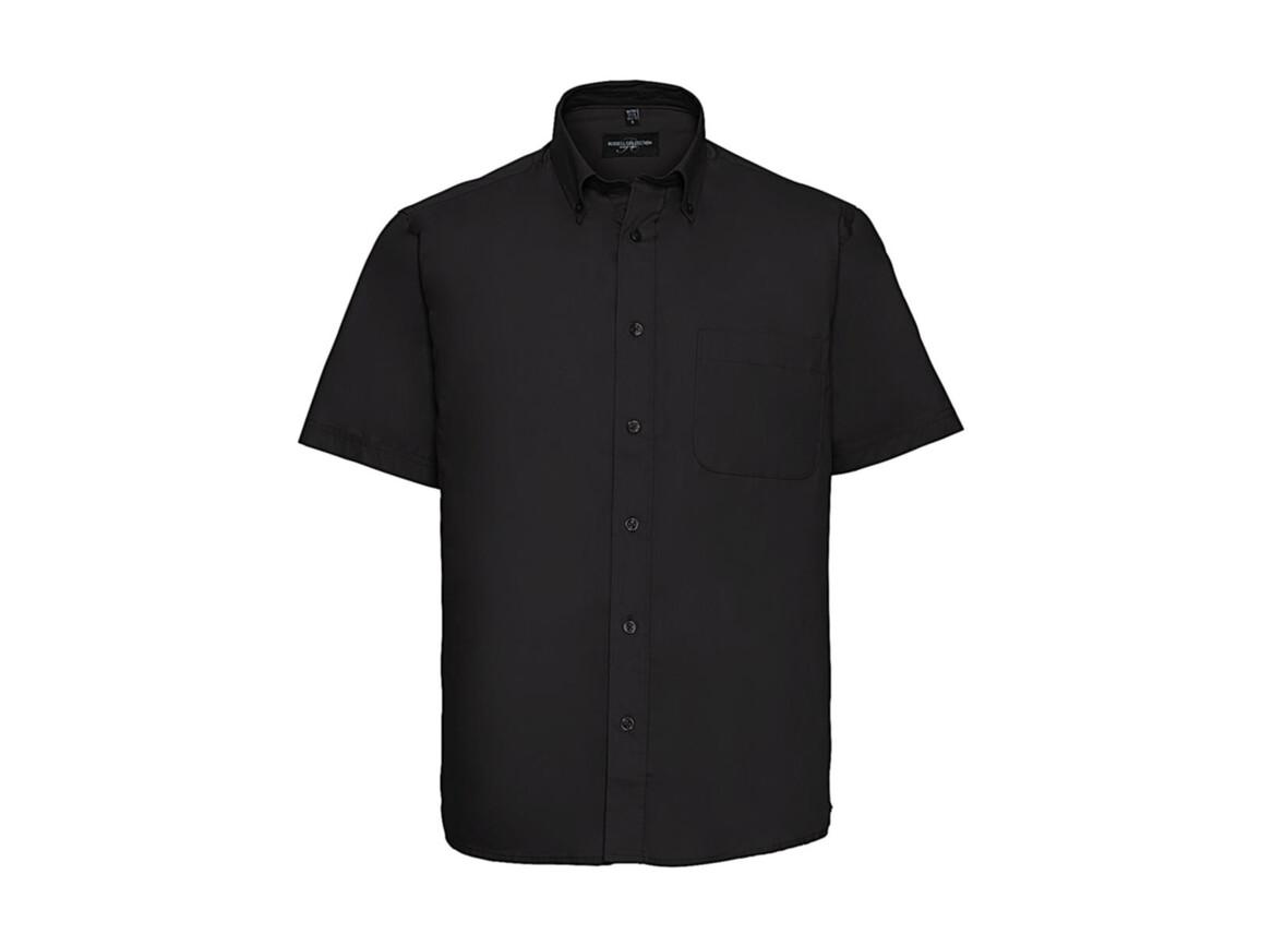 Russell Europe Short Sleeve Classic Twill Shirt, Black, 4XL bedrucken, Art.-Nr. 777001017