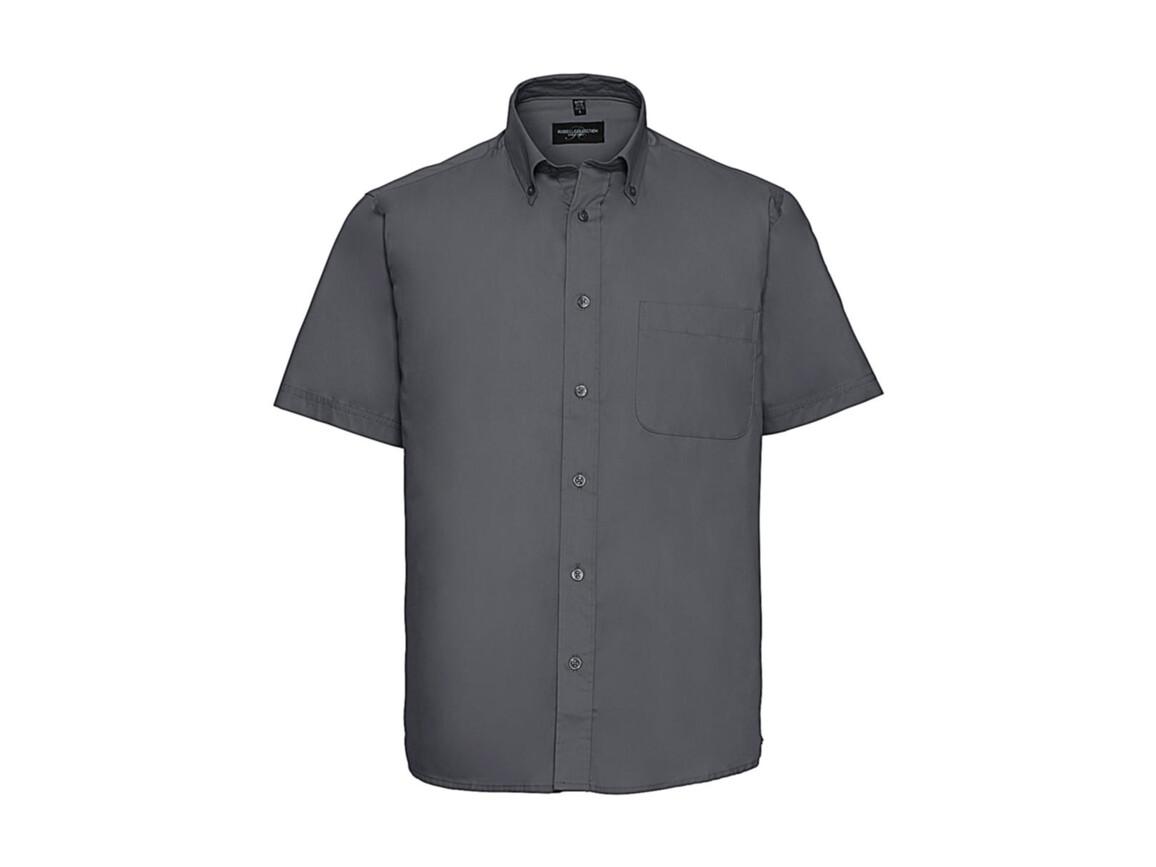 Russell Europe Short Sleeve Classic Twill Shirt, Zinc, S bedrucken, Art.-Nr. 777001121