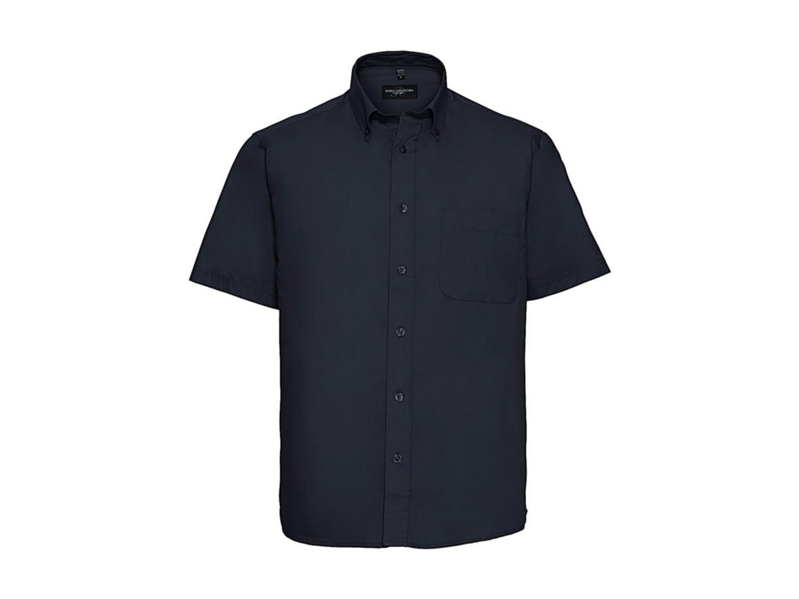 Russell Europe Short Sleeve Classic Twill Shirt, French Navy, S bedrucken, Art.-Nr. 777002011