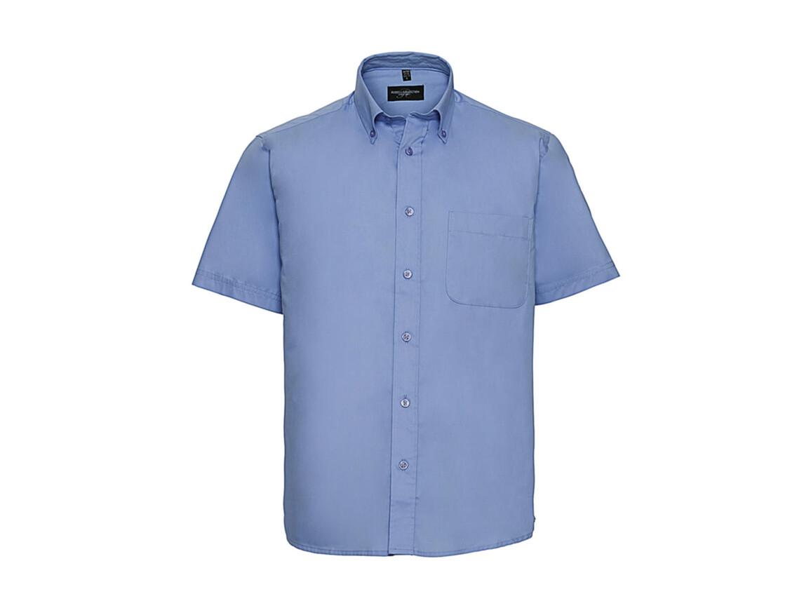 Russell Europe Short Sleeve Classic Twill Shirt, Blue, XL bedrucken, Art.-Nr. 777003014