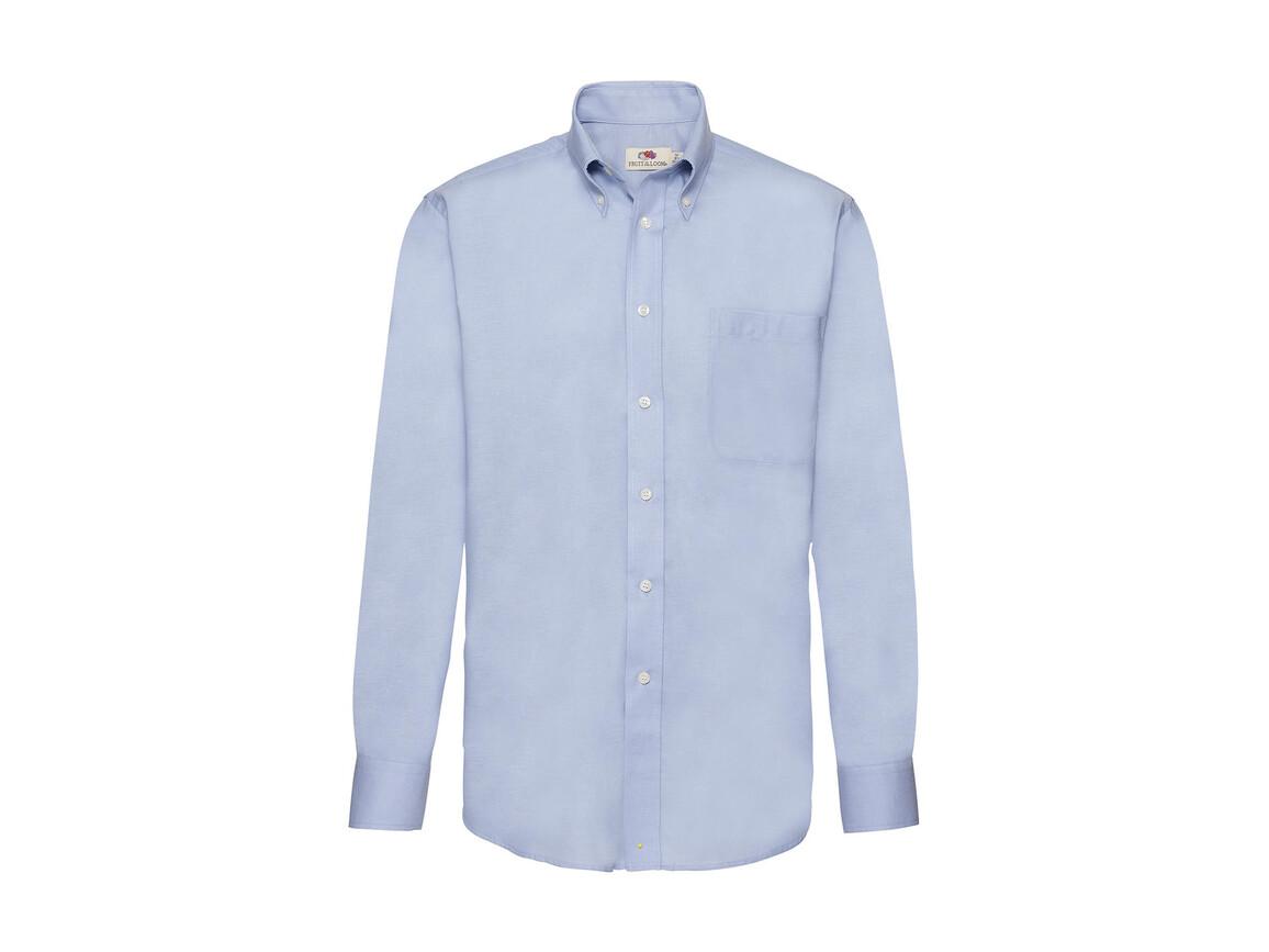 Fruit of the Loom Oxford Shirt LS, Oxford Blue, 2XL bedrucken, Art.-Nr. 778013267