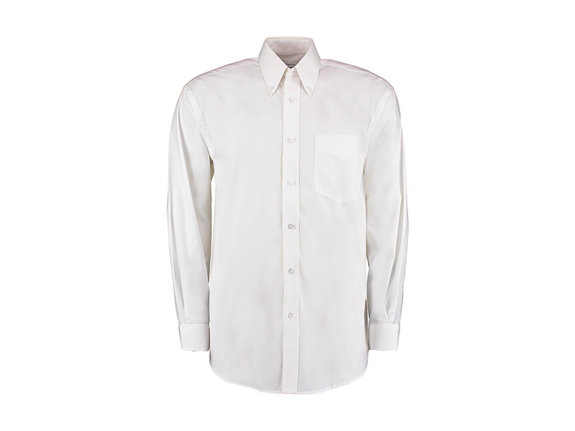 Kustom Kit Classic Fit Premium Oxford Shirt, White, M bedrucken, Art.-Nr. 778110003