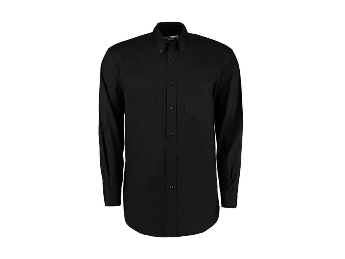 Kustom Kit Classic Fit Premium Oxford Shirt, Black, M bedrucken, Art.-Nr. 778111013