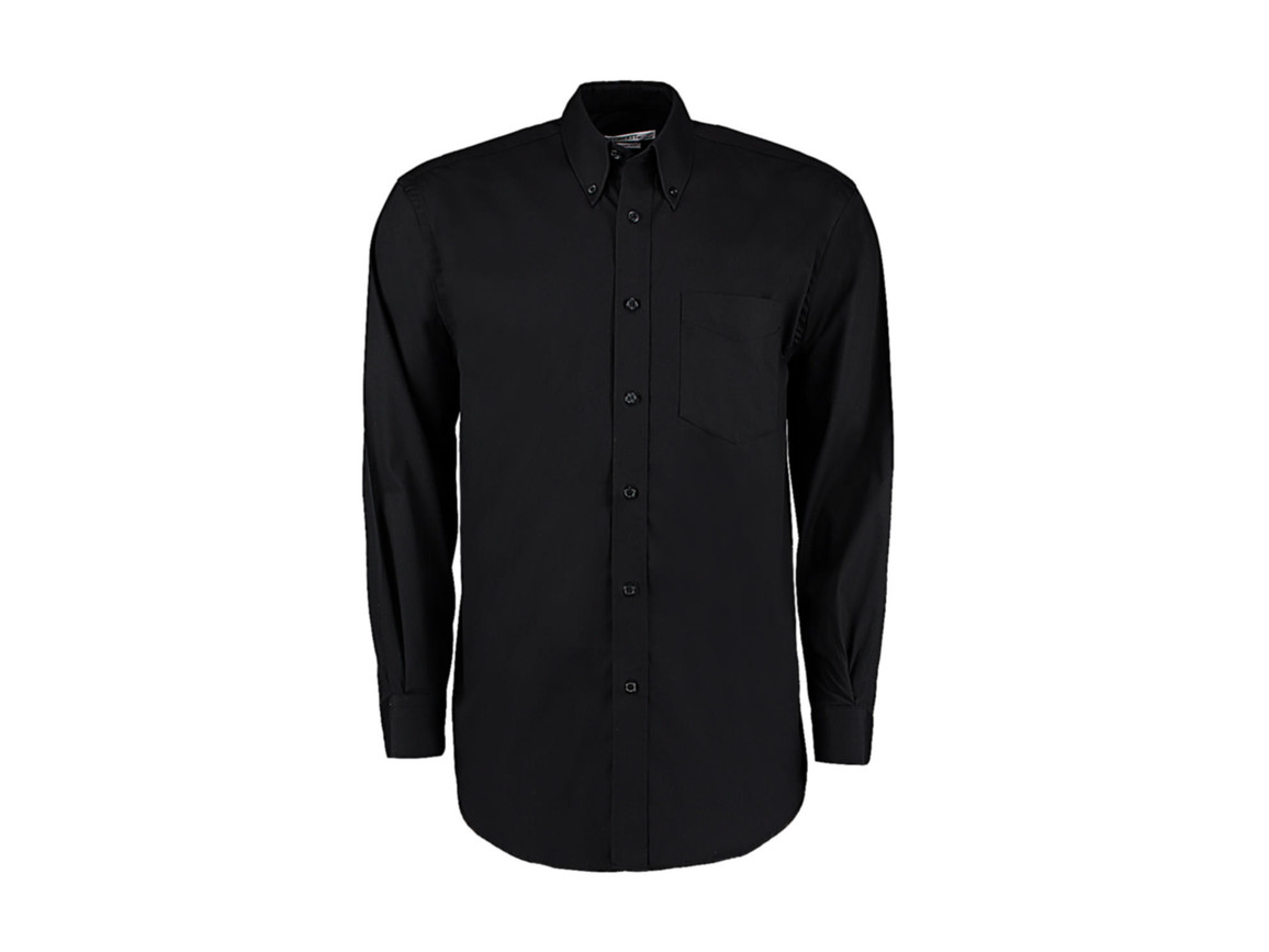 Kustom Kit Classic Fit Premium Oxford Shirt, Black, S bedrucken, Art.-Nr. 778111011