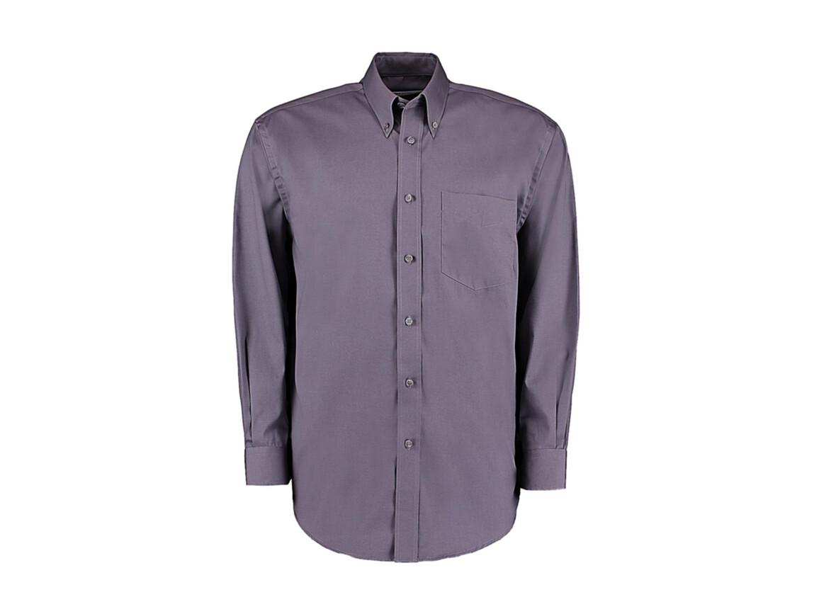 Kustom Kit Classic Fit Premium Oxford Shirt, Charcoal, XL bedrucken, Art.-Nr. 778111307