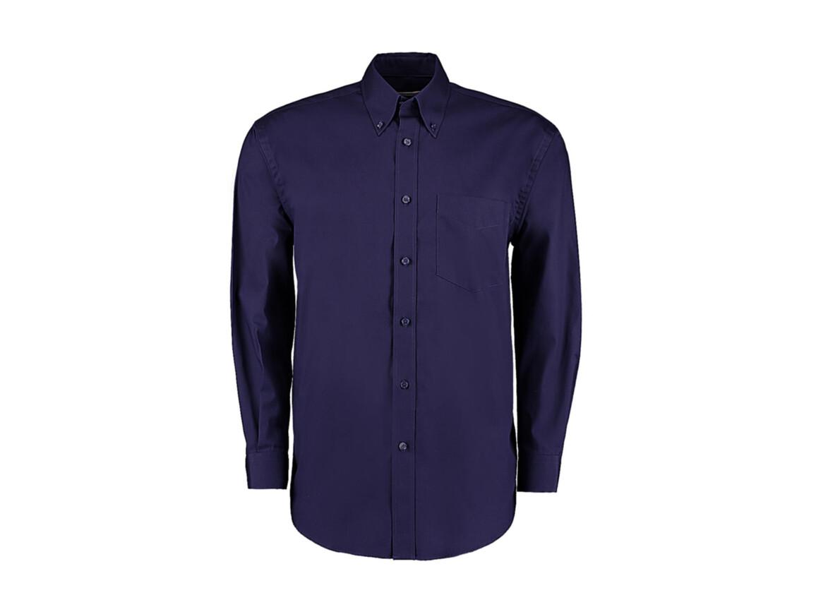 Kustom Kit Classic Fit Premium Oxford Shirt, Midnight Navy, L bedrucken, Art.-Nr. 778112055