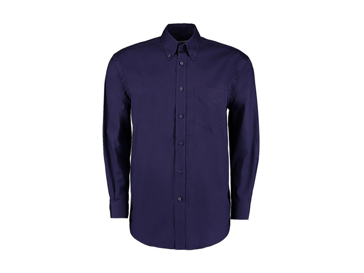 Kustom Kit Classic Fit Premium Oxford Shirt, Midnight Navy, S bedrucken, Art.-Nr. 778112051