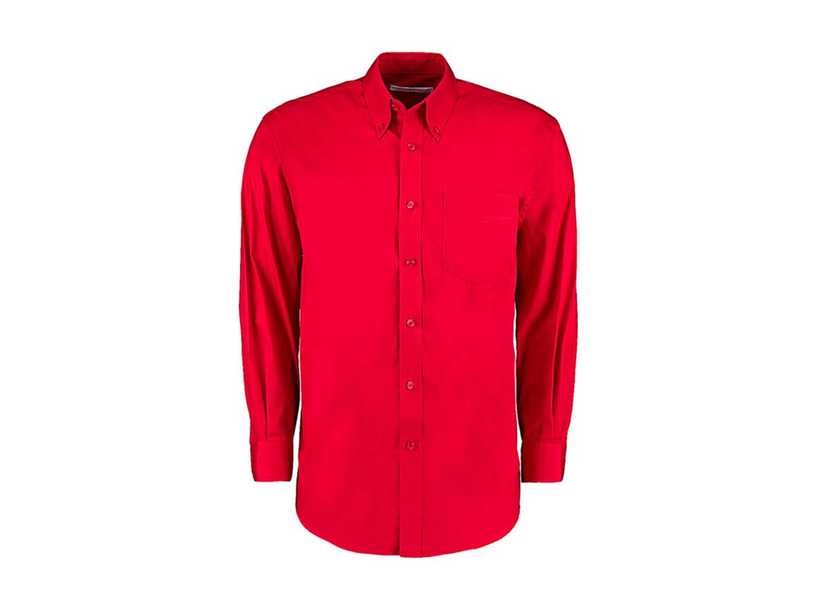 Kustom Kit Classic Fit Premium Oxford Shirt, Red, XL bedrucken, Art.-Nr. 778114007